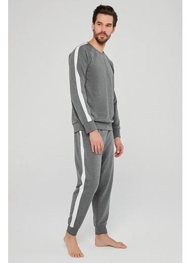 Penti Tape Pijama Takımı Gri